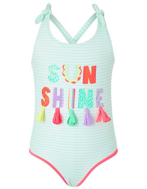 Sunshine Striped Swimsuit, Multi (BRIGHTS-MULTI), large