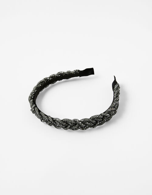 Crystal Tube Plaited Headband, , large