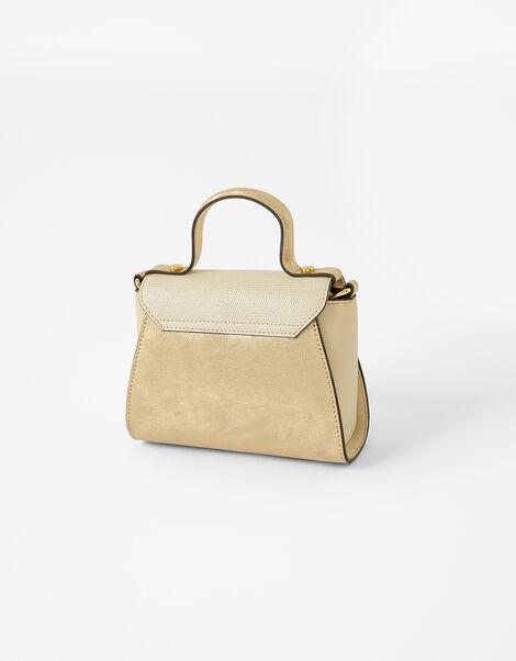 Ellie Top Handle Bag Gold, Gold (GOLD), large