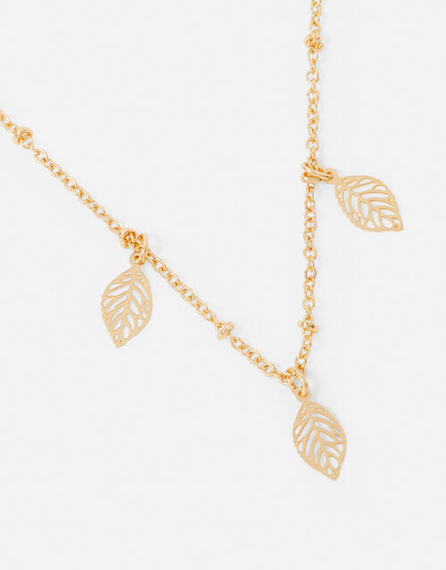 Discy Leaf Necklace, , large