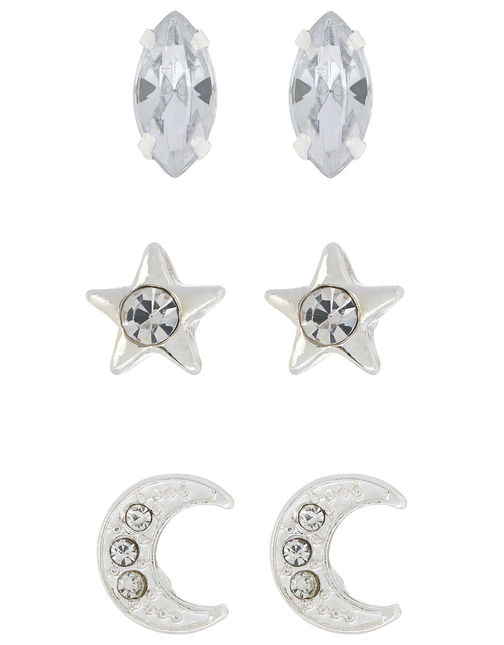Crystal Celestial Stud Earring Set, , large