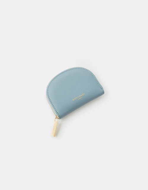 Crescent Zip Coin Purse, Blue (BLUE), large