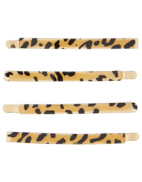 Leopard Resin Hair Slide Set, , large