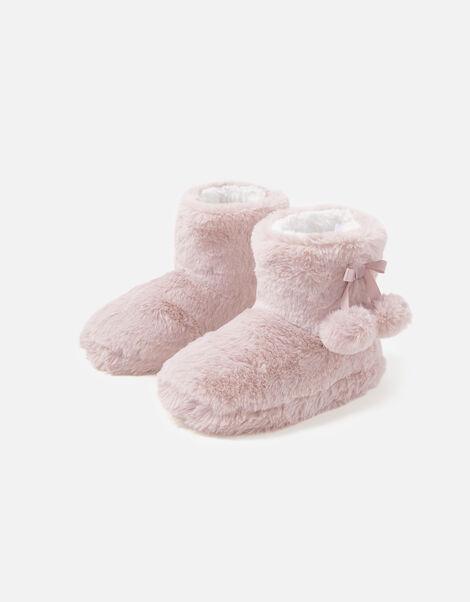 Girls Soft Slipper Boots Pink, Pink (PINK), large