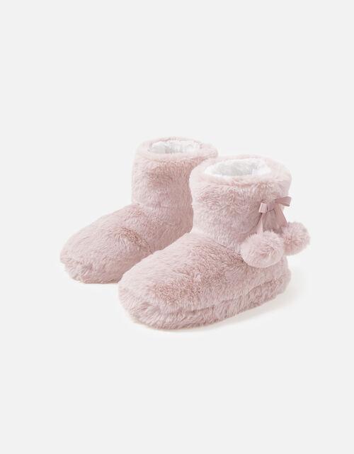 Girls Soft Slipper Boots, Pink (PINK), large