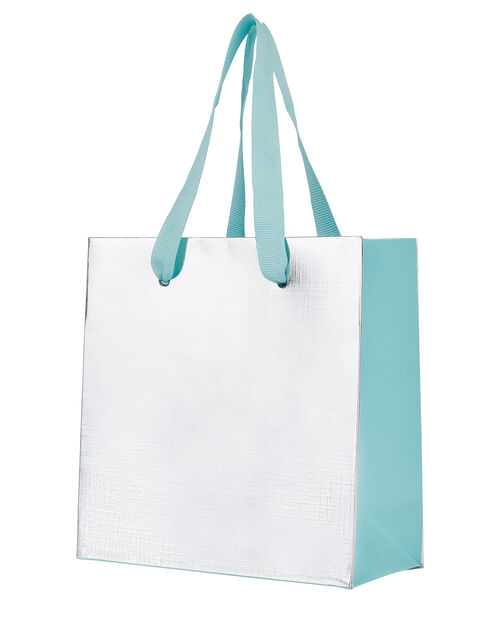 Small Metallic Gift Bag, , large