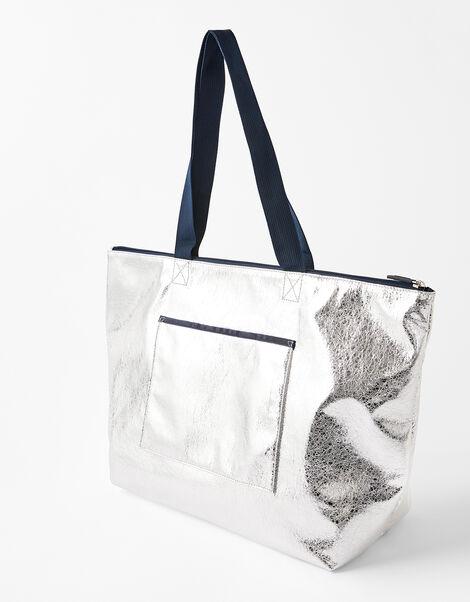 Piper Packable Metallic Gym Bag, , large