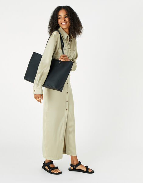 Toni Tote Bag with Pouch Black, Black (BLACK), large