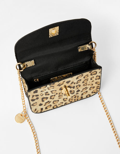 Leopard Mini Cross-Body Bag, , large