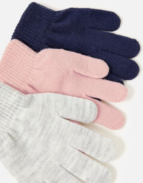 Girls Plain Glove Set, Multi (PASTEL-MULTI), large