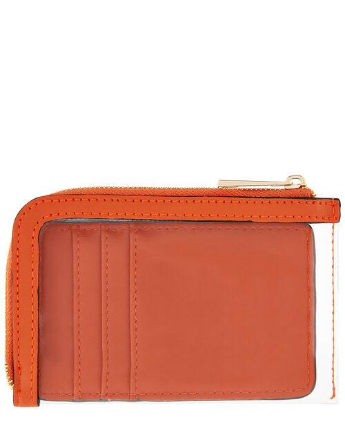 Card Holder with Slip Bag, Orange (ORANGE), large