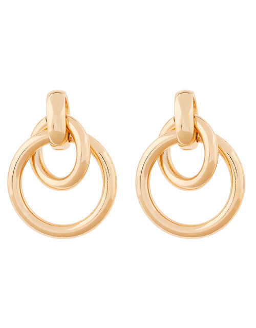 Hooped Doorknocker Earrings, , large