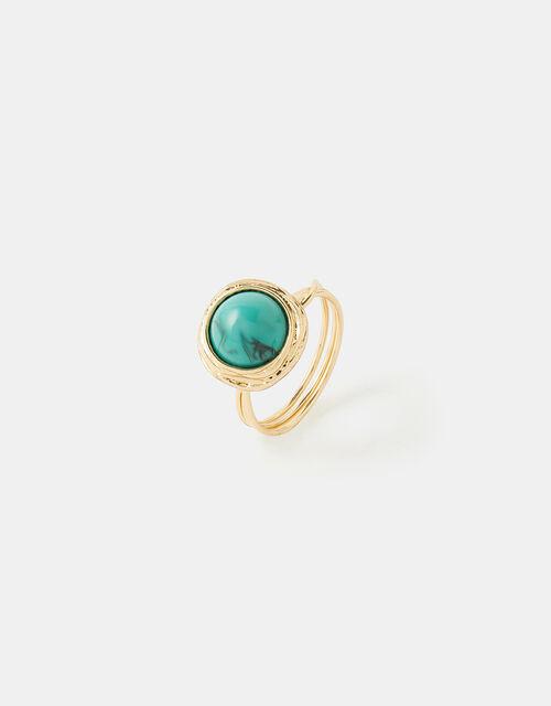 Turquoise Stone Ring, Blue (TURQUOISE), large