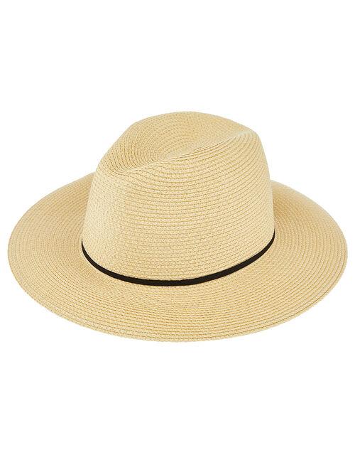 Straw Panama Hat, Natural (NATURAL), large