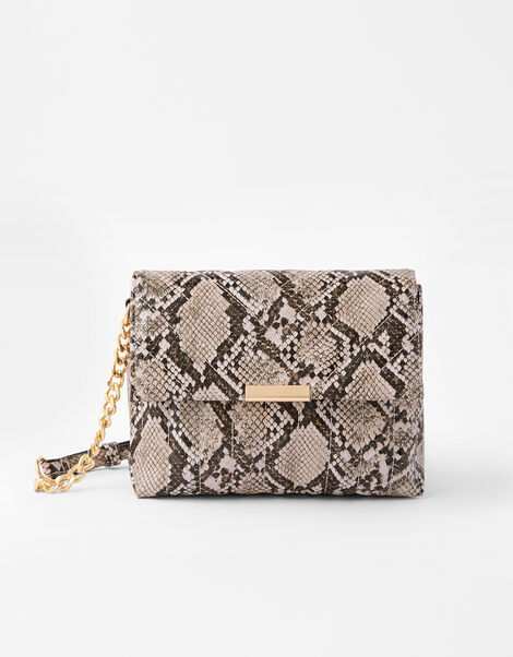 Snake Cross-Body Bag, , large