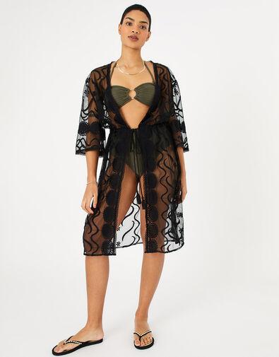 Lace Kimono Black, Black (BLACK), large