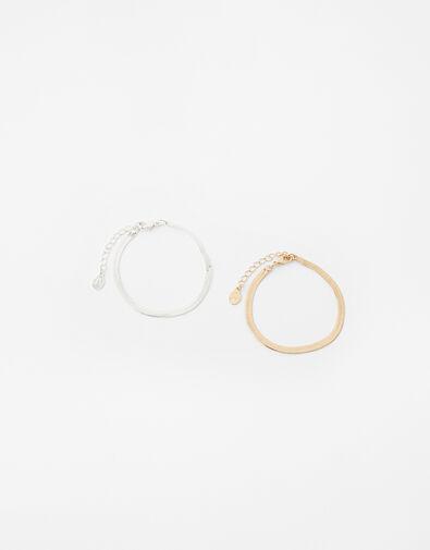 Layered Snake Chain Bracelet, , large