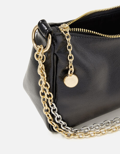 Mixed Chain Slouchy Shoulder Bag, , large