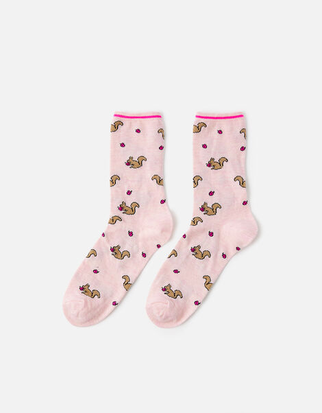 Shimmer Squirrel Socks, , large