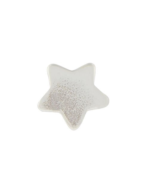Sterling Silver Single Star Stud Earring, , large