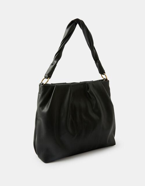 Ruched Shoulder Bag, , large