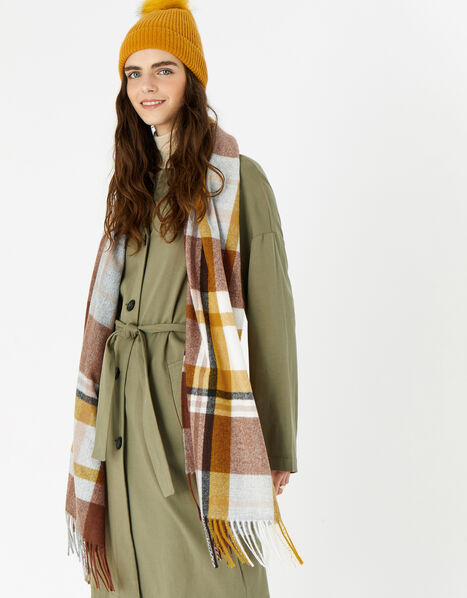 Notting Hill Check Blanket Scarf, , large