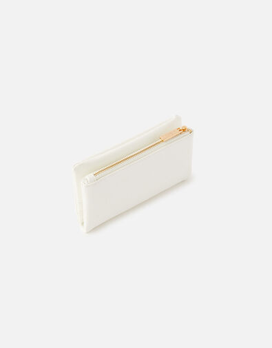 Foldover Zip Coin Purse  White, White (WHITE), large