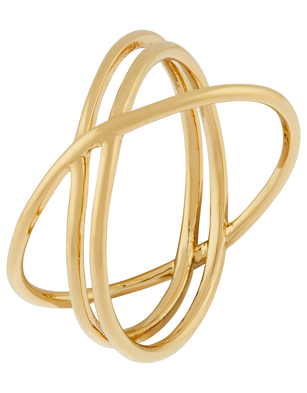 Gold-Plated Layered Ring, Gold (GOLD), large
