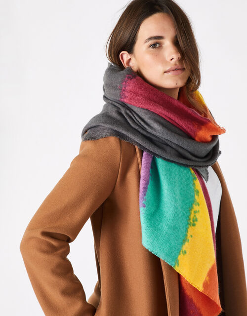 Rainbow Blanket Scarf, , large
