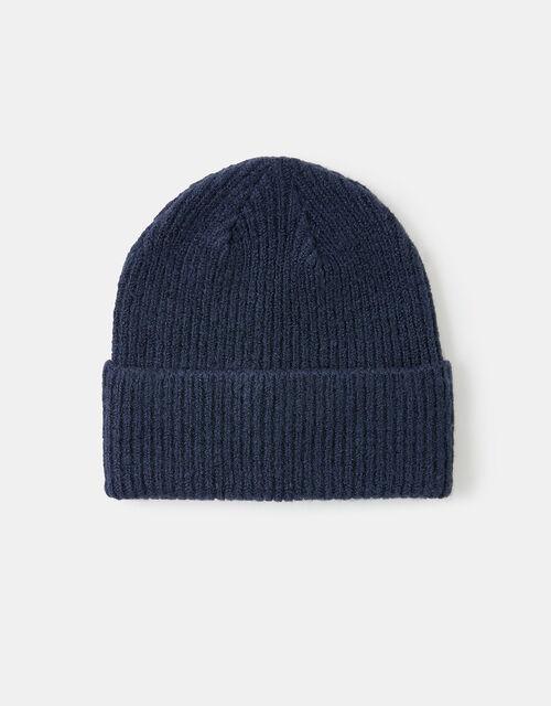 Soho Knit Beanie Hat, Blue (NAVY), large