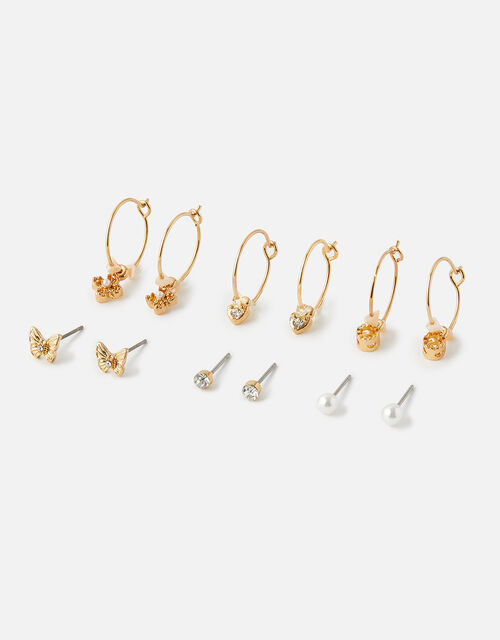 Butterfly Flower Hoop and Stud Multipack , , large