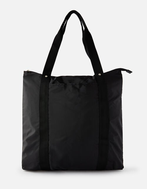 Packable Shopper Bag, Black (BLACK), large