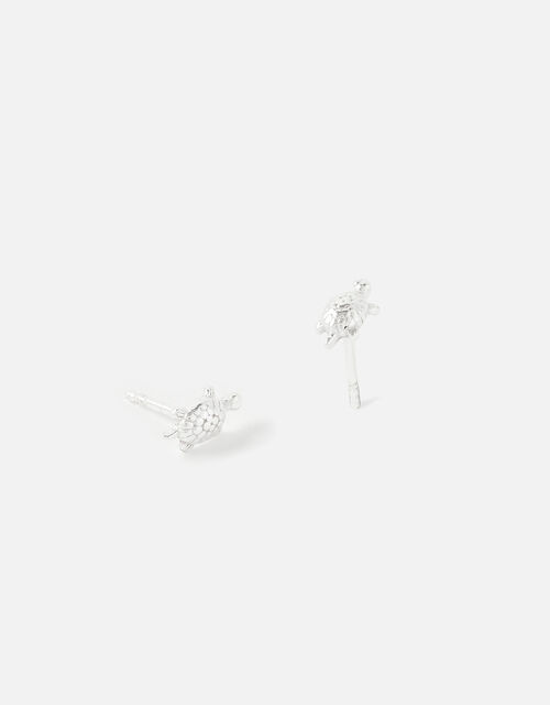 Sterling Silver Tilly Turtle Studs, , large