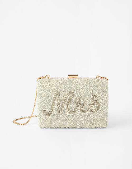Mrs Beaded Clutch Bag, , large