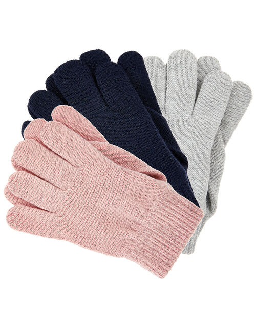 Knit Gloves Multipack, Multi (PASTEL-MULTI), large