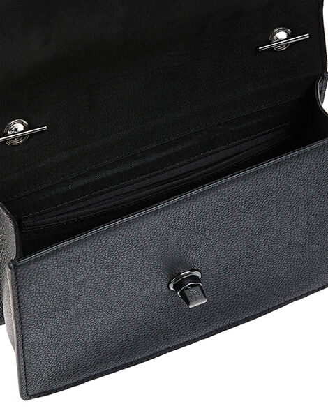 Clara Leather Cross-Body Bag Black, Black (BLACK), large