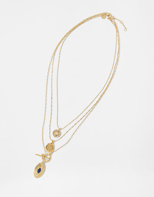 Gold-Plated Charmy Layered Necklace, , large
