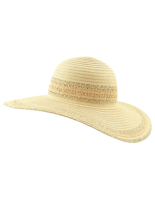 Sorento Floppy Hat, Natural (NATURAL), large