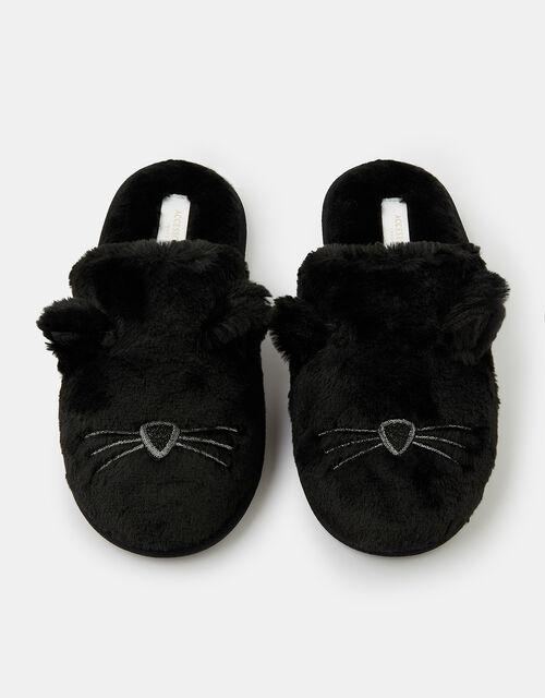 Cat Mule Slippers, Black (BLACK), large