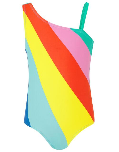 Rainbow Stripe Swimsuit, Multi (BRIGHTS-MULTI), large