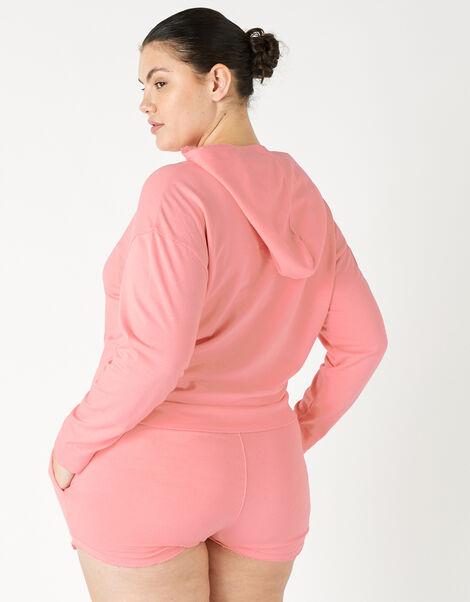 Plain Sweat Shorts Orange, Orange (CORAL), large