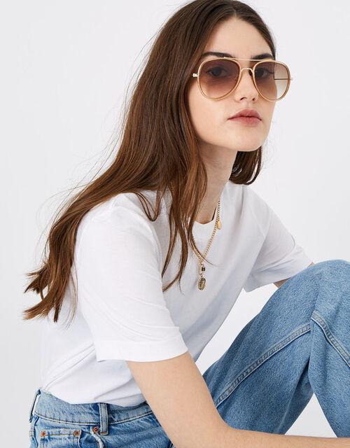 Abi Aviator Sunglasses, , large