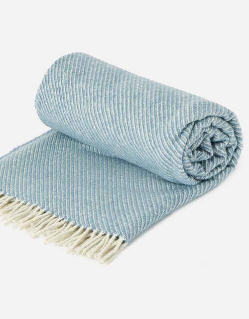 Tweedmill Tassel Throw in Pure Wool, Blue (BLUE), large