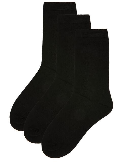 Soft Bamboo Ankle Sock Multipack, Black (BLACK), large