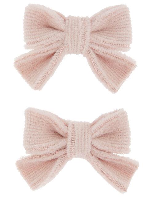 Velvet Bow Hair Clips, , large