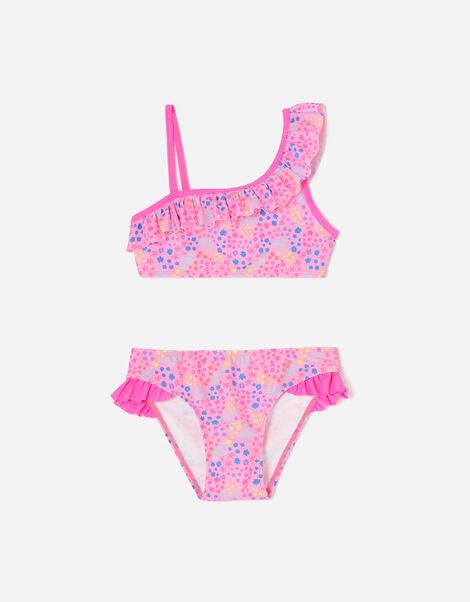 Ditsy Print Asymmetrical Bikini  Multi, Multi (BRIGHTS-MULTI), large