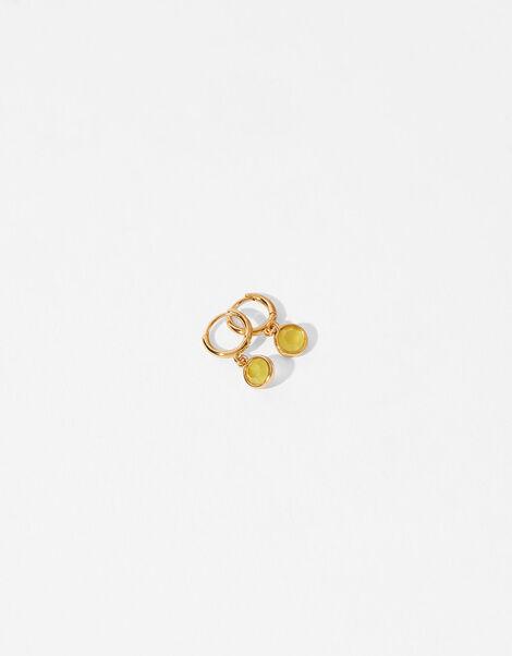 Gold-Plated Birthstone Earrings - November, , large