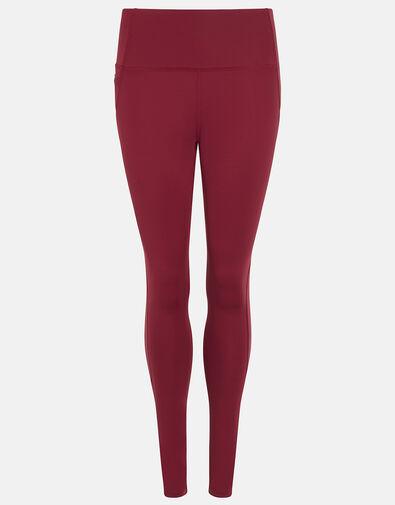 Full-Length Gym Leggings Red, Red (BURGUNDY), large
