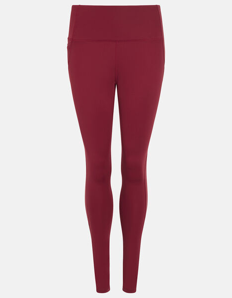 Full-Length Gym Leggings Red, Red (BURGUNDY), large