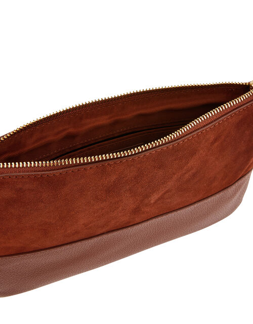Carmela Leather Cross Body Bag, Orange (RUST), large